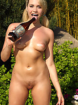 Micro Bikini, New ALS Angels Model Mia Malkova Rams a Giant Bottle Up Her Sweet Pussy