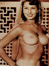 Nipples getting darker, Popular Italian beauty Sophia Loren shows down her curves.