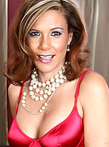 Naked Milf, Glamorous cougar Victoria shows off her satin dress