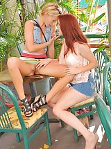 naked babe, Lena and Melody Public Fun