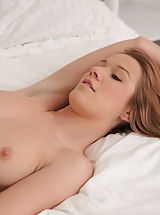 Brunette Alexis Crystal crawls into bed with her man to surprise him with a warm morning blowjob and a slick pussy ride