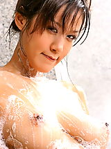 Mature Nipples, Asian Women irene fah 02 shower big nipples nice tits
