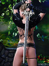 Puffy Nipples Pics, Naked knight babe with the huge steel sword