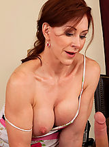 Milf Nippels, Hot redhead milf loves the cock