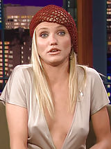 Nipples always hard, Cameron Diaz shows her hot panty covered buns and difficult pokies