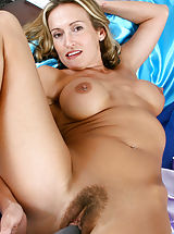 puffy boobs, Hot tempting Anilos Jolie masturbates her tight snatch with a vibrator