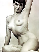 naked pictures, Previously Unreleased & Not Shown Black & White Vintage Erotica and Fetish Photos of Betty (Bettie) Page