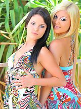 Naked FTV Girls, Haley and Hayden pose and play