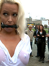 Sapphic Erotica Nippels, Steve Holmes ties up and fucks a hot German Milf in the streets of Europe