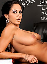 Puffy Nipples Pics, Ava Addams shows one of her students what it takes to get an A in her class.