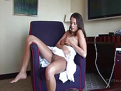 Amanda plays with her wet pussy